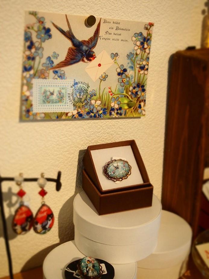 始まりました 『夏のおたよりと切手アクセサリー展』_a0306166_14233038.jpg