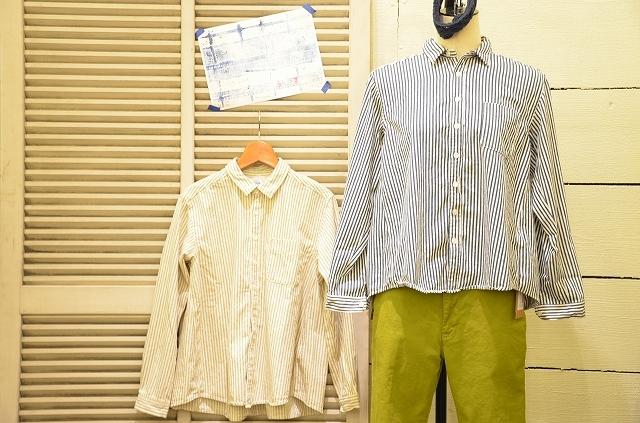 -- New --- D.M.G. ストライプシャツの使い方。_a0256162_19510376.jpg