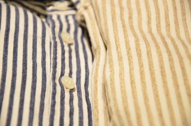 -- New --- D.M.G. ストライプシャツの使い方。_a0256162_20354191.jpg