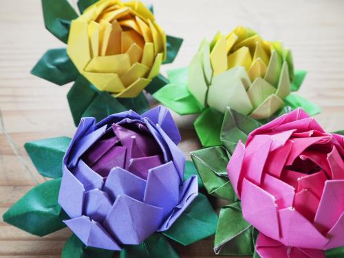 ハート 折り紙 折り紙 蓮の花 折り方 : tent04.exblog.jp