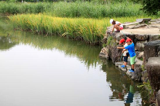 広沢の池 ザリガニ釣り_e0048413_21355070.jpg