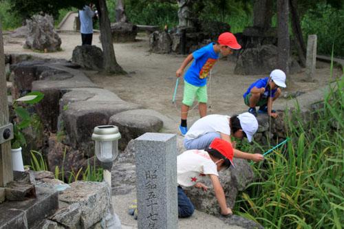 広沢の池 ザリガニ釣り_e0048413_2136055.jpg