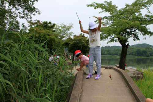 広沢の池 ザリガニ釣り_e0048413_21363071.jpg