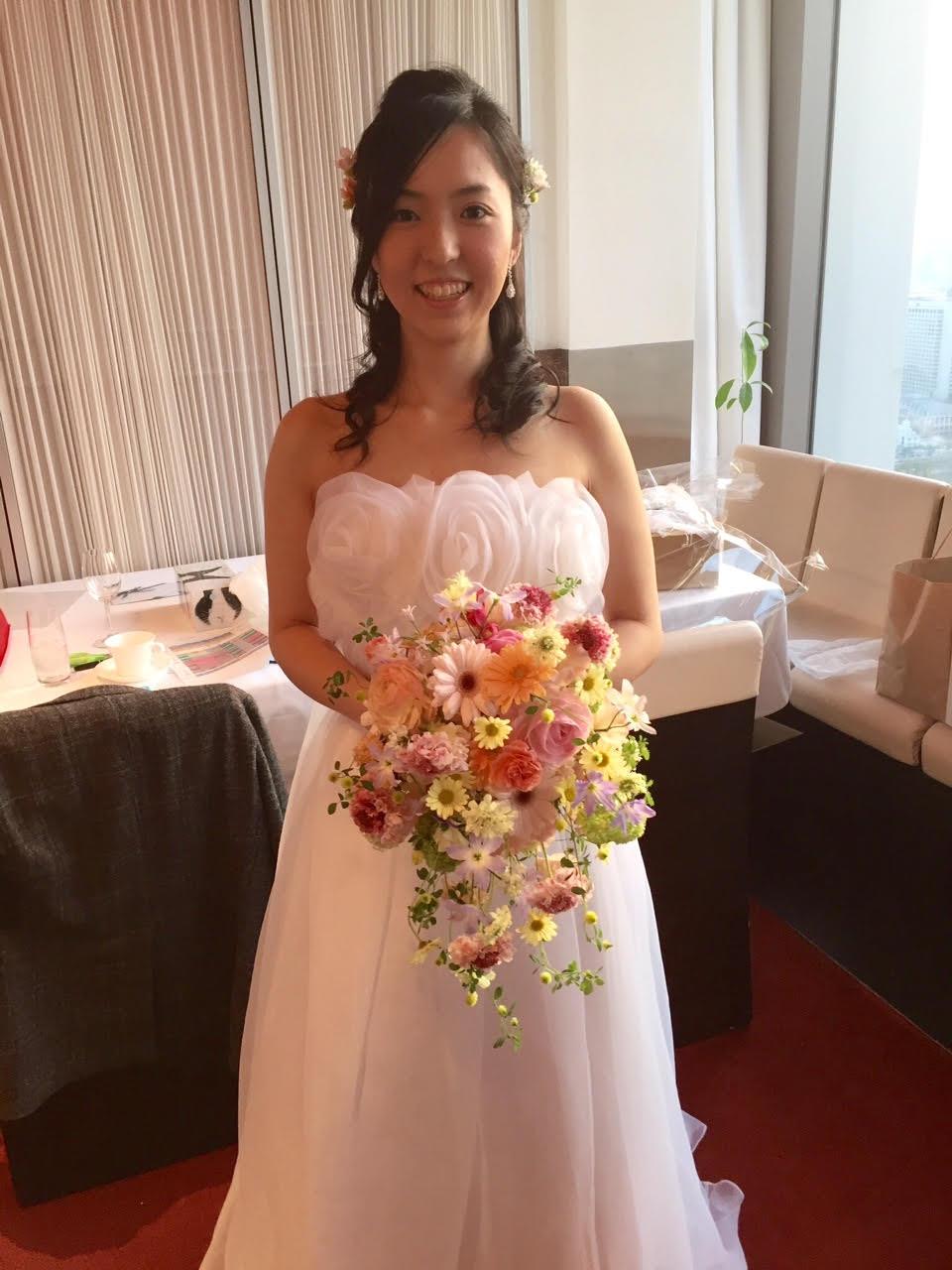 新郎新婦様からのメール 春の装花と春のブーケ サンス・エ・サヴール様へ_a0042928_22335667.jpg