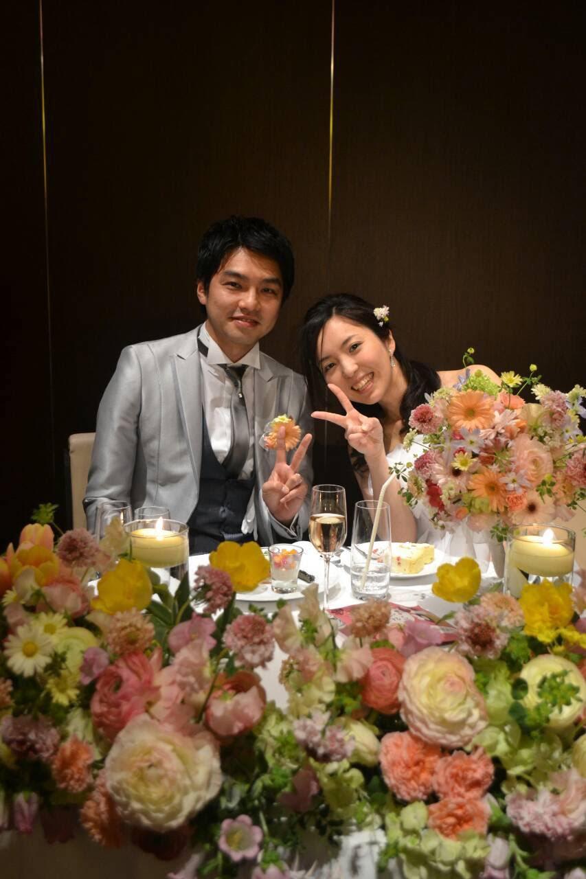 新郎新婦様からのメール 春の装花と春のブーケ サンス・エ・サヴール様へ_a0042928_22341383.jpg
