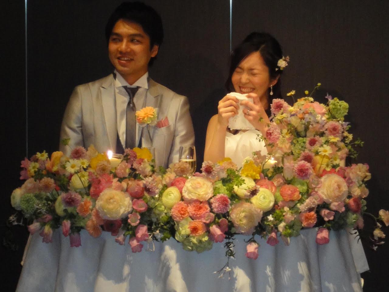 新郎新婦様からのメール 春の装花と春のブーケ サンス・エ・サヴール様へ_a0042928_2244824.jpg