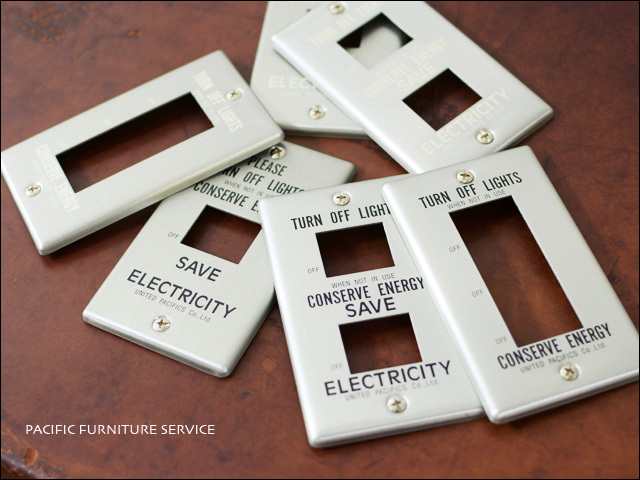 PACIFIC FURNITURE SERVICE [パシフィックファニチャーサービス] SWITCH PLATE -ALUMI  [SW31/32/33]_f0051306_16540310.jpg