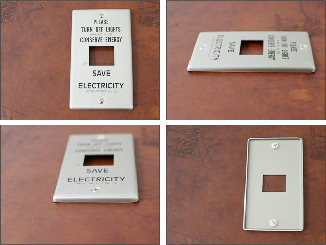 PACIFIC FURNITURE SERVICE [パシフィックファニチャーサービス] SWITCH PLATE -ALUMI  [SW31/32/33]_f0051306_16540397.jpg