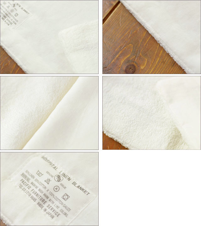 PACIFIC FURNITURE SERVICE[パシフィックファニチャーサービス] HOSPITAL LINEN BLANKET HARF [TWH0004] _f0051306_16574713.jpg