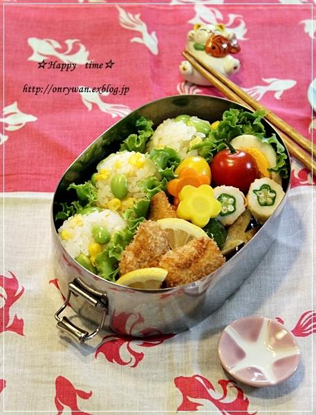 とうもろこしと枝豆おむすび弁当とあんぱん♪_f0348032_19332617.jpg