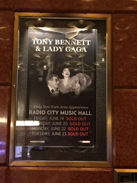 ニューヨーク4 「トニー・ベネット&レディー・ガガ」のコンサート_c0189469_21291644.jpg