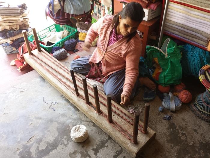 ネパールの織物工房見学_e0155231_1414161.jpg