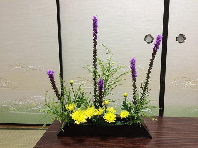 7/7のお花:リアトリス、スプレー菊_b0042538_11034730.jpg