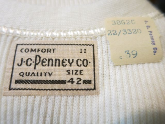 7/11(土)入荷!30\'S ~JC. PENNY CO UNDER WEAR !_c0144020_14521225.jpg