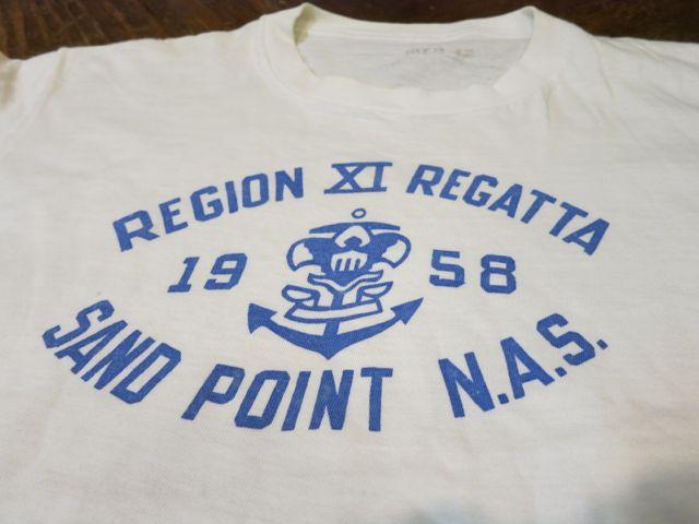 7/11(土)入荷!1958年 U.S NAVAL AIR  STATION ミリタリーTシャツ!染込みプリント!_c0144020_15272654.jpg