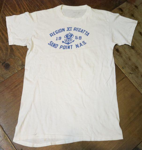 7/11(土)入荷!1958年 U.S NAVAL AIR  STATION ミリタリーTシャツ!染込みプリント!_c0144020_15272773.jpg