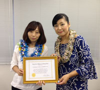 Miwako先生がサティフィケートを取得されました!_c0196240_11135123.jpg