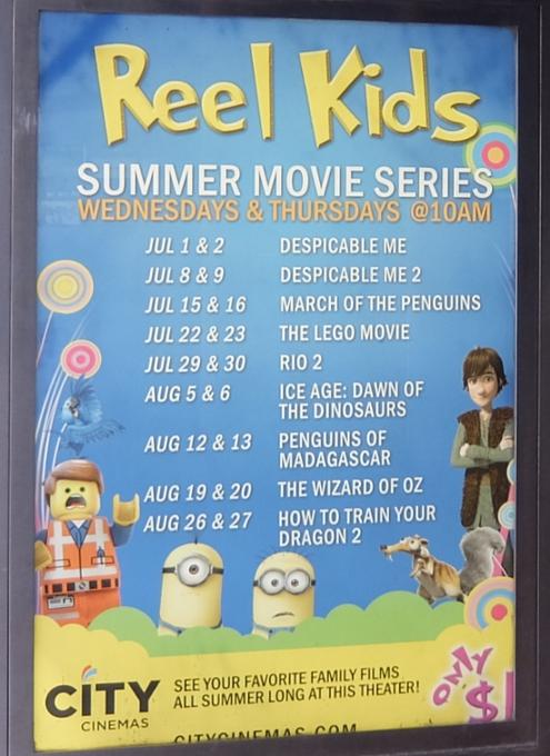 NYで映画見るなら住宅街の映画館へ!! 赤ちゃん連れも大歓迎、たった1ドルで見れる夏休み企画も!!_b0007805_312952.jpg