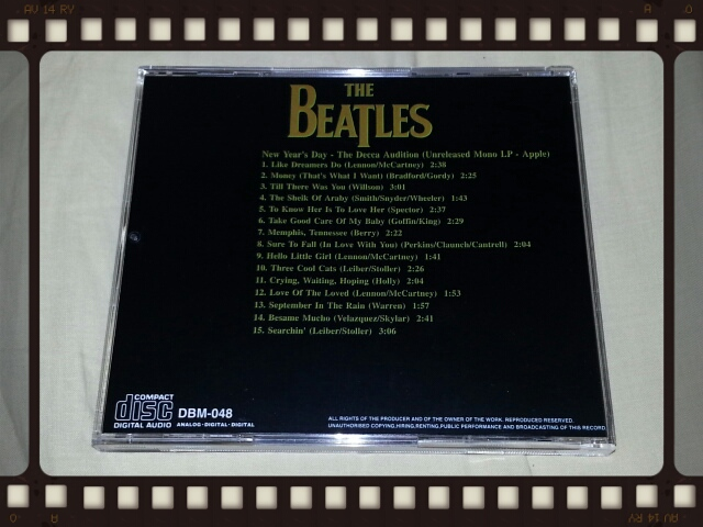 THE BEATLES / NEW YEAR\'S DAY - THE DECCA AUDITION (UNRELEASED MONO LP -APPLE)_b0042308_12132878.jpg
