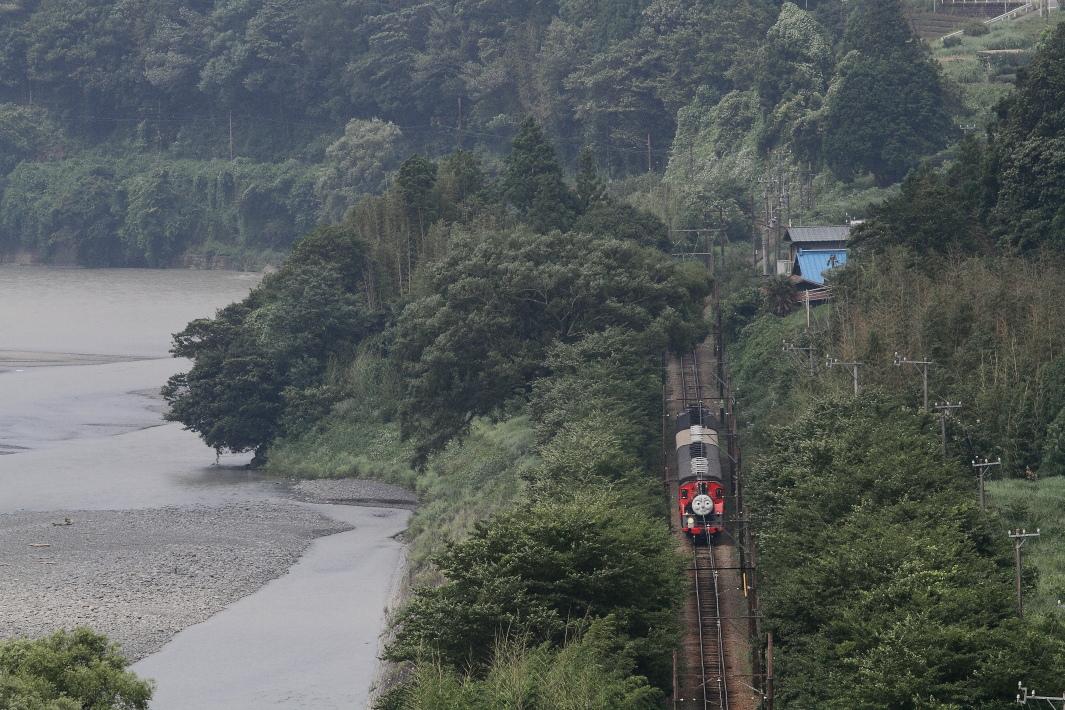 大井川に沿ってジェームスくんが走る - 2015年夏・大井川 -  _b0190710_20553445.jpg