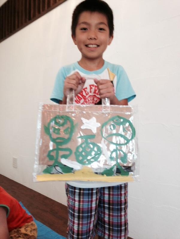 7月の出張教室「オリジナルプールバッグを作ろう」_b0215321_2259951.jpg