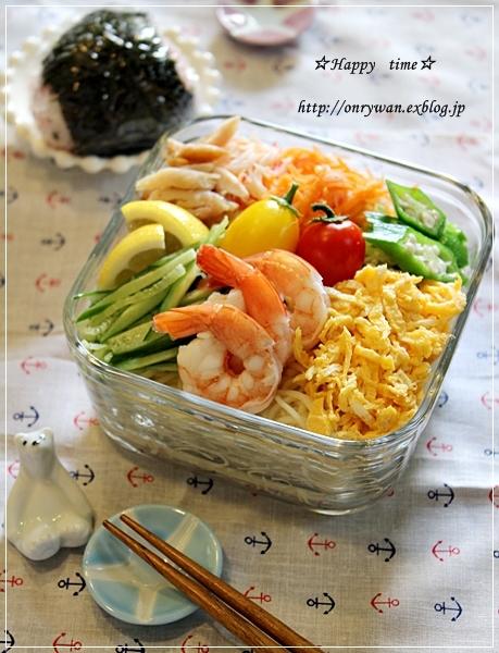 冷やし中華弁当と山食で具たっぷりサンド♪_f0348032_16535968.jpg