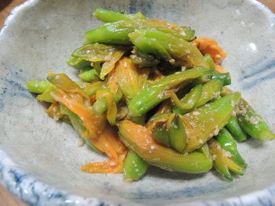 金針菜の胡麻酢和え_b0252363_1854583.jpg