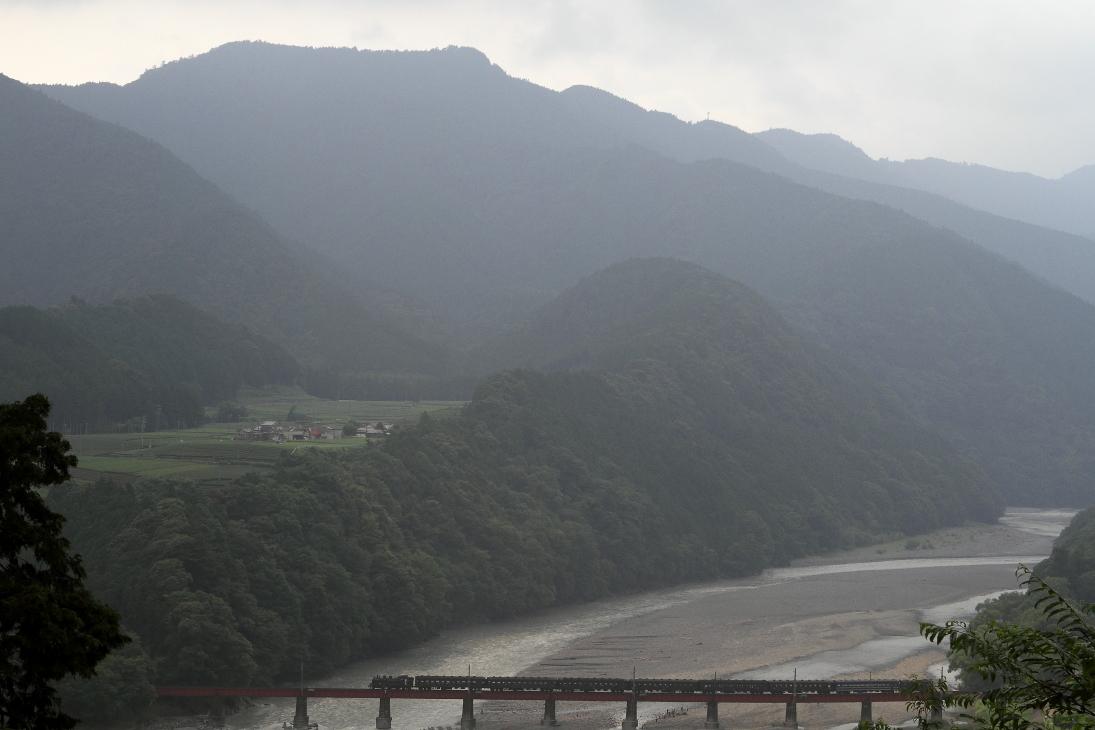 夏の夕方、大井川を渡る汽車 - 2015年夏・大井川 -  _b0190710_23125237.jpg