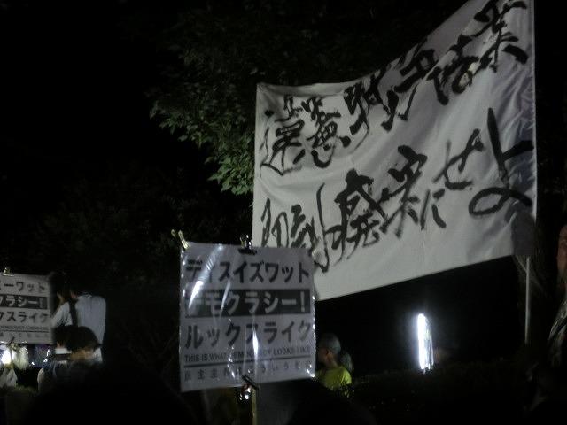 シールズ(SEALDs)の国会前集会に参加 「解釈改憲、絶対反対」_f0141310_727487.jpg