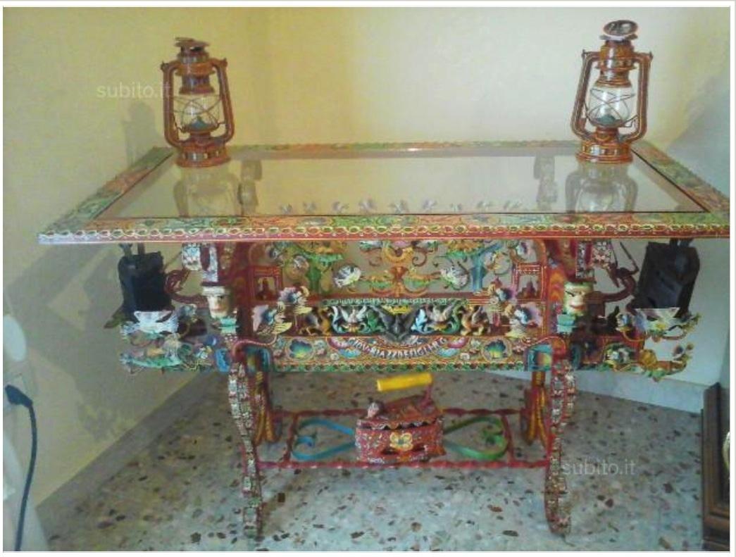 シチリア風荷台のテーブル バゥ_d0084229_03191281.jpg