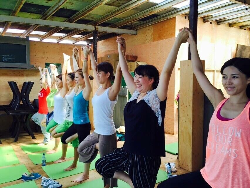 朝yoga@Hawaiian  Village_a0267845_21552663.jpg