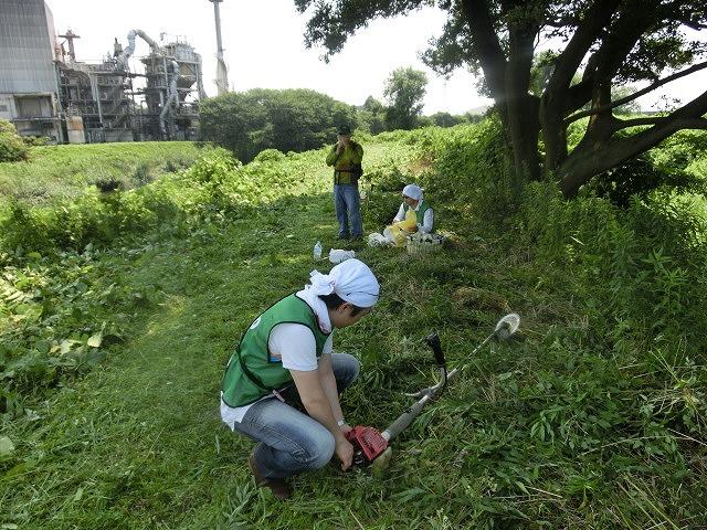 暑い中、強力な助っ人20名以上で完遂! 滝川の草刈り清掃_f0141310_7493423.jpg