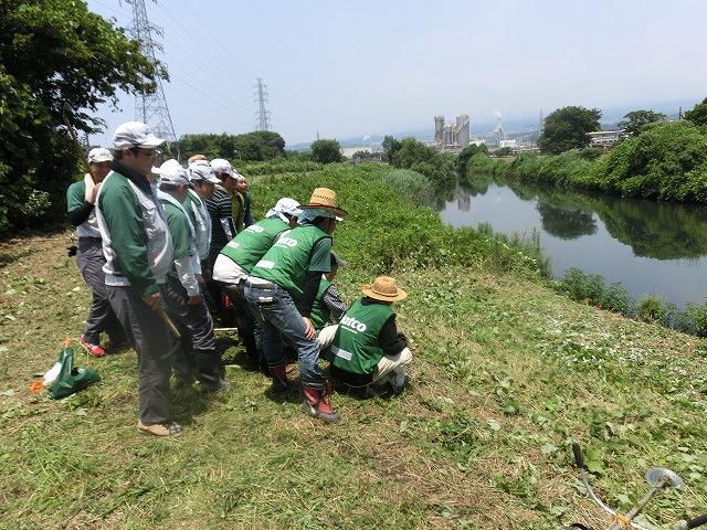 暑い中、強力な助っ人20名以上で完遂! 滝川の草刈り清掃_f0141310_7503920.jpg