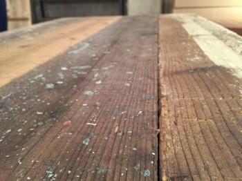 味のある足場板でテーブル作り!_d0237564_18413634.jpg