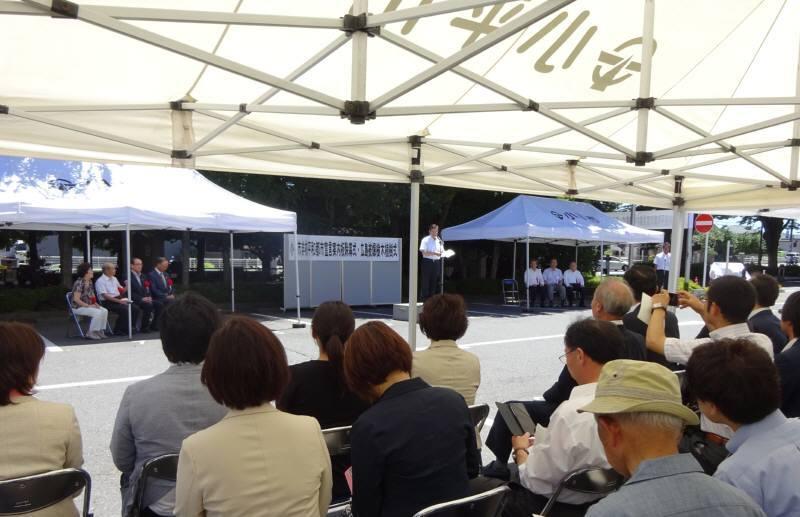 広島被爆樹木植樹式_f0059673_21230062.jpg