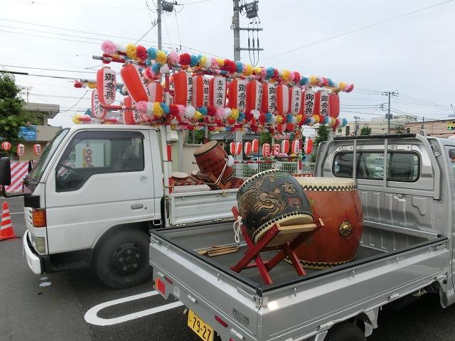 新しいJA島田支店駐車場で行われた津田・荒田島の「てんのさん」_f0141310_7345295.jpg