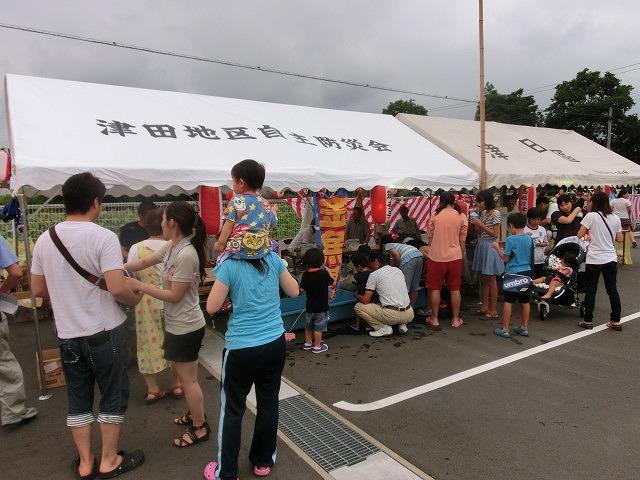 新しいJA島田支店駐車場で行われた津田・荒田島の「てんのさん」_f0141310_7351347.jpg