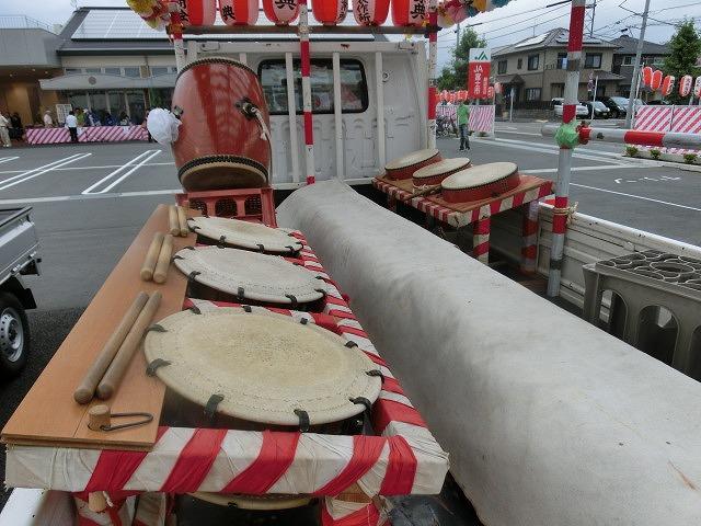 新しいJA島田支店駐車場で行われた津田・荒田島の「てんのさん」_f0141310_735451.jpg