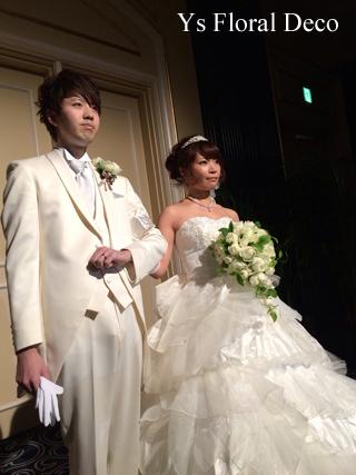 カップ咲のバラのブーケ ウェスティンホテル東京さんへ_b0113510_847967.jpg