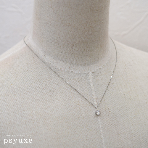 プラチナとダイアモンドのリフォームネックレス_e0131432_14495026.jpg