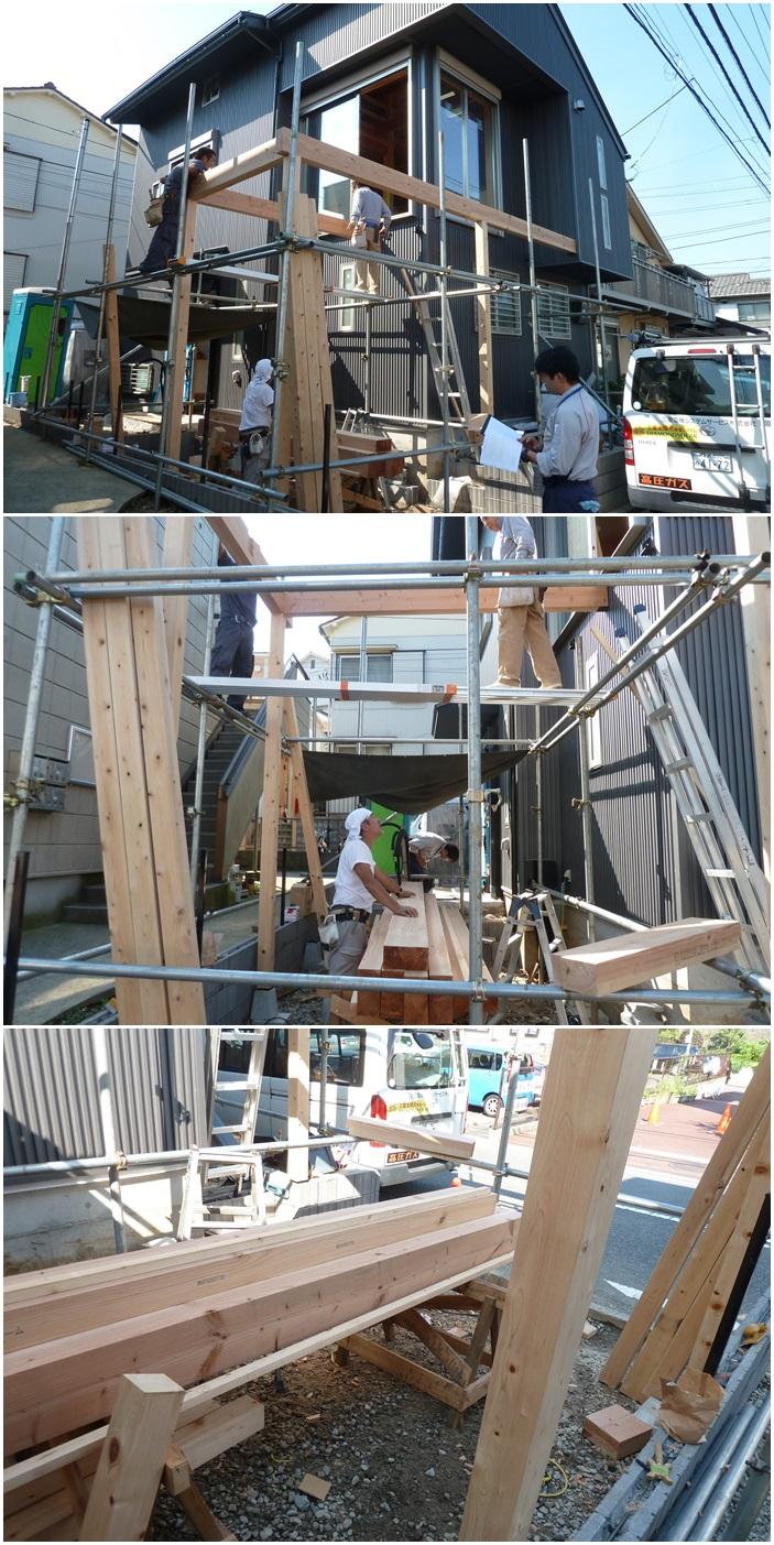 横浜市神奈川区の家☆デッキ工事が始まりました。_c0152341_7303556.jpg