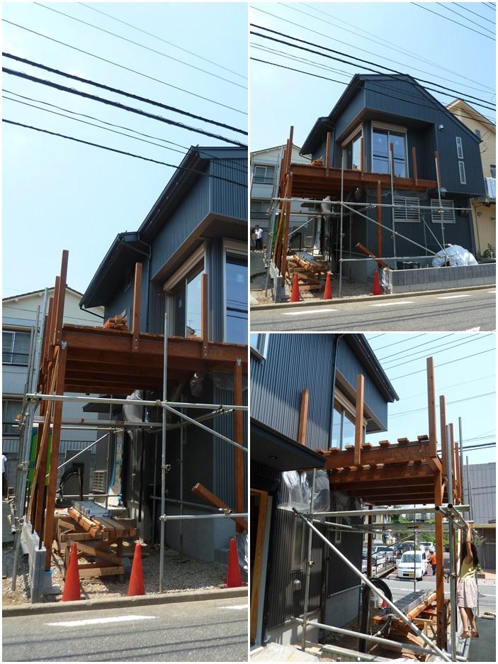 横浜市神奈川区の家☆デッキ工事が始まりました。_c0152341_7304782.jpg