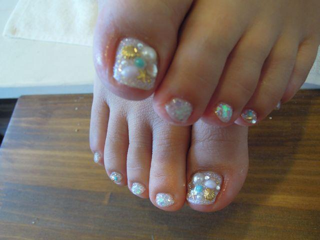 Summer Foot Nail_a0239065_9551266.jpg