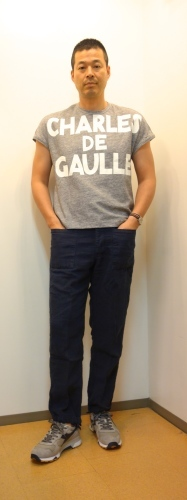 "m\'s braque(エムズ・ブラック)\""CHARLES DE GAULLE\""Tシャツ_c0118375_23470696.jpg"