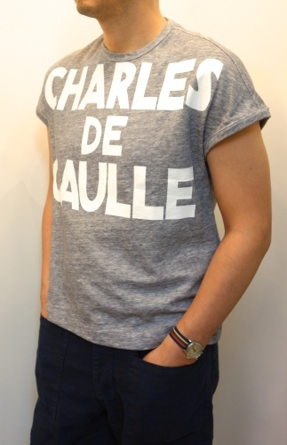 "m\'s braque(エムズ・ブラック)\""CHARLES DE GAULLE\""Tシャツ_c0118375_23474176.jpg"