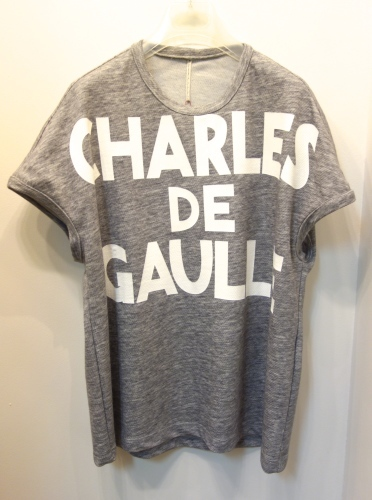 "m\'s braque(エムズ・ブラック)\""CHARLES DE GAULLE\""Tシャツ_c0118375_00201937.jpg"
