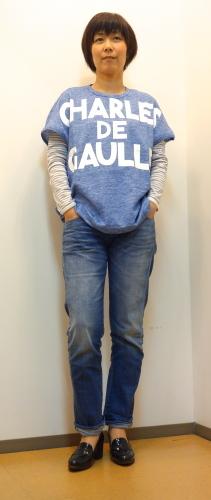 "m\'s braque(エムズ・ブラック)\""CHARLES DE GAULLE\""Tシャツ_c0118375_12164372.jpg"