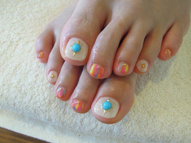 Paint Foot Nail_a0239065_12362836.jpg