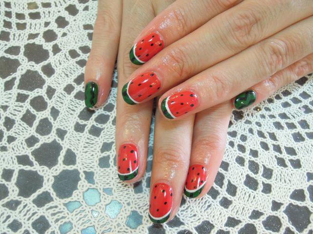 Watermelon NAil_a0239065_15222896.jpg