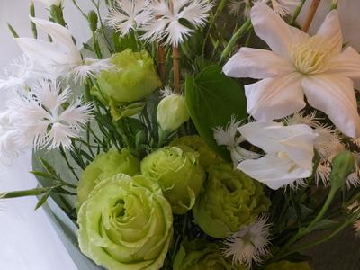 オークリーフ(緑色の花を入れて)_f0049672_1451454.jpg